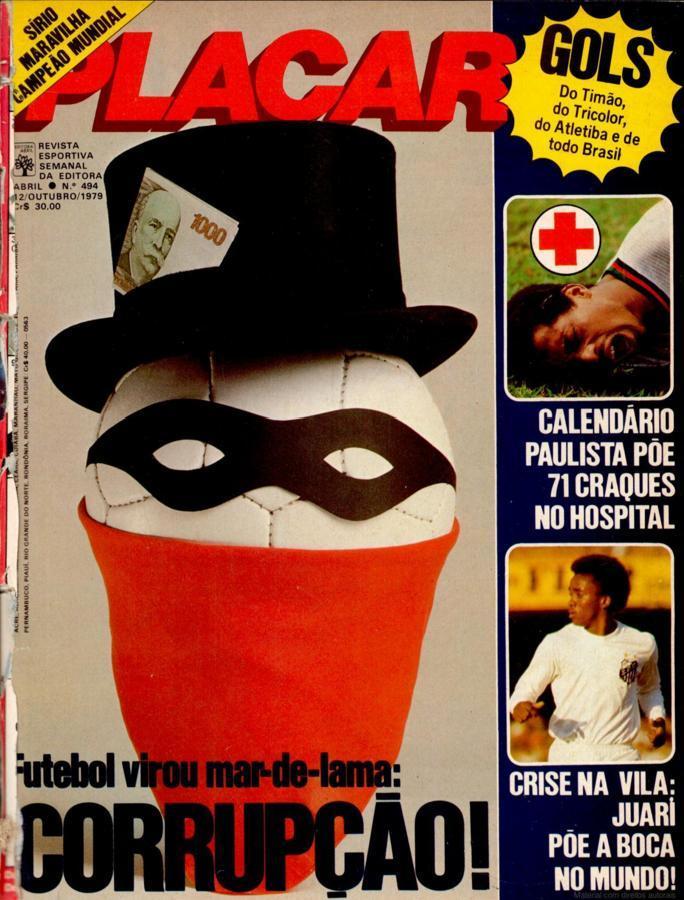 corrupçao no futebol placar 12 10 1979