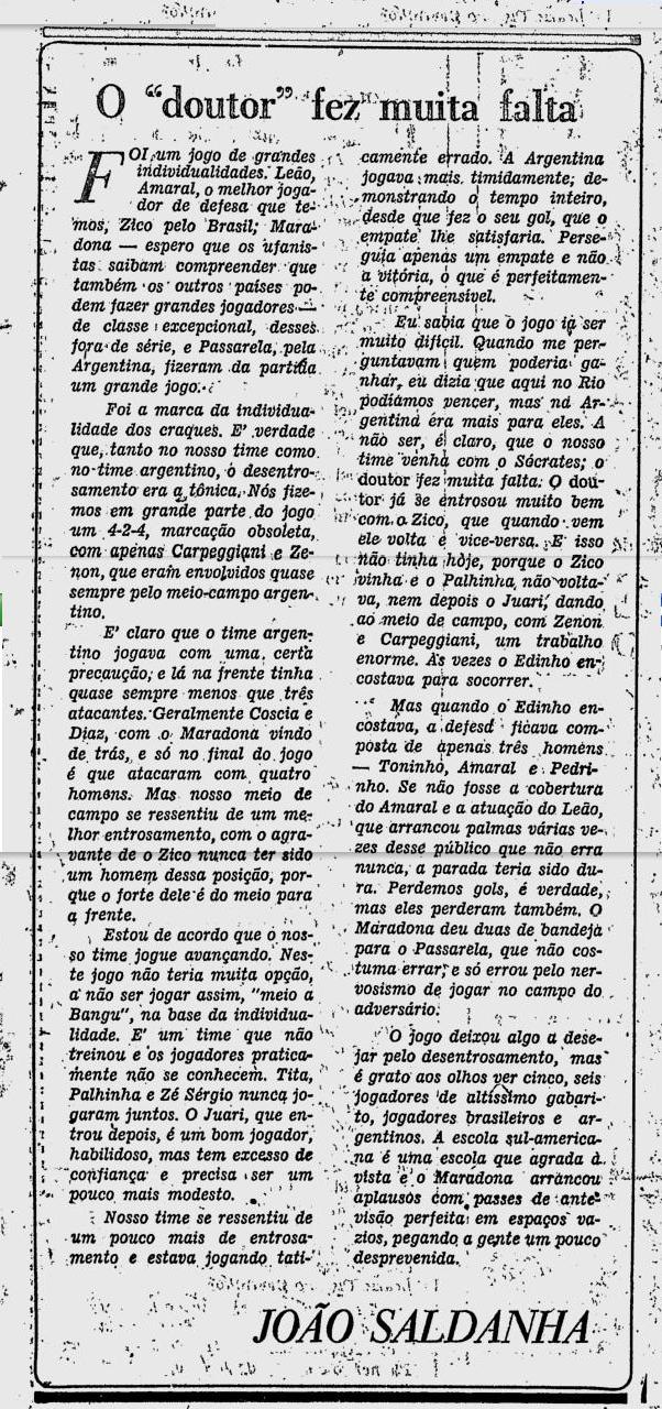 Brasil 2 1 argentina 1979 3 saldanha